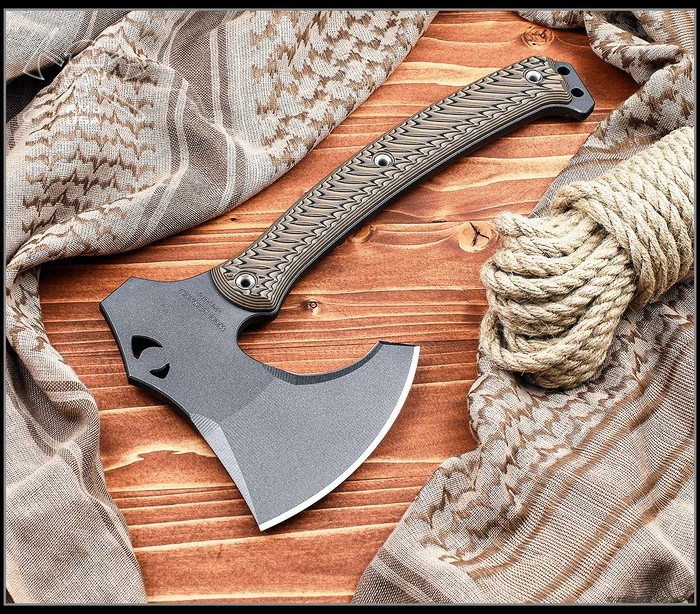 rmj tactical weezerker tomahawk for bushcrafting axe to carry with 3