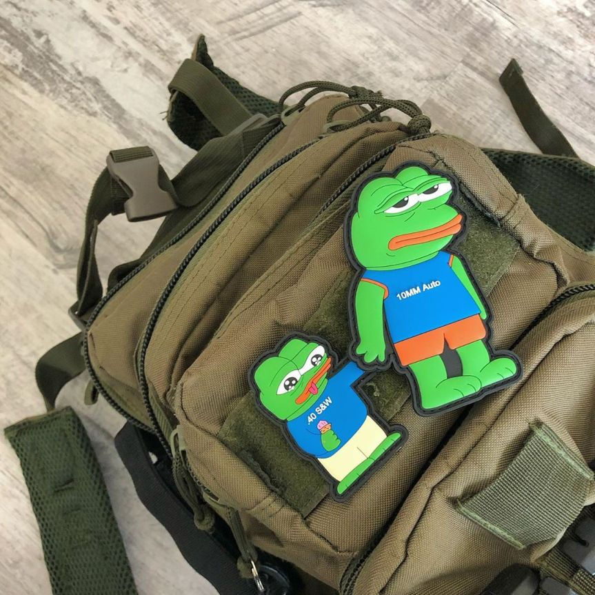 stickthison sadd pepe morale patch 40 is better than 9mm 10mm is garbage pepe morale patches  1.jpg