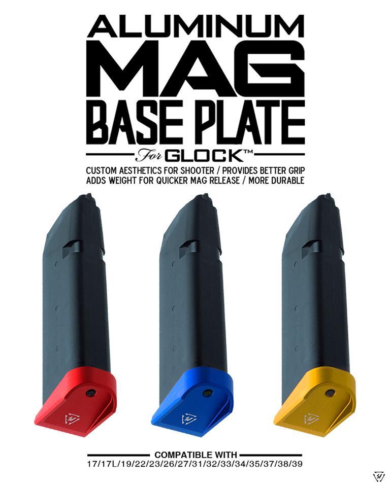 strike industries glock plus 0 base pads for glock aluminum magazine base pads. 1