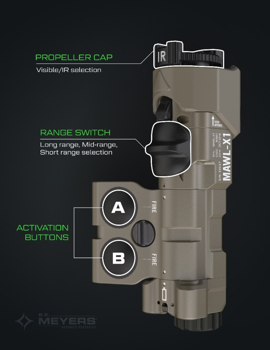 b.e. meyers and company mawl-xi laser sighting system weapon laser ar15 laser 2