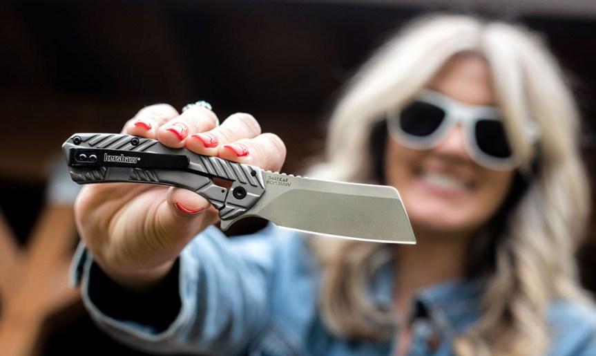 kershaw knives static model 3445 folder frame lock pocket knife clever style blade knife edc everyday carry  1.jpg