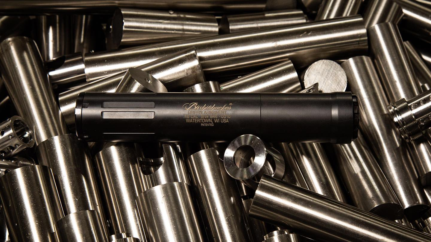 GRIFFIN ARMAMENT INTRODUCES THE BUSHWHACKER 46 A UNIVERSAL CALIBER SUPPRESSOR