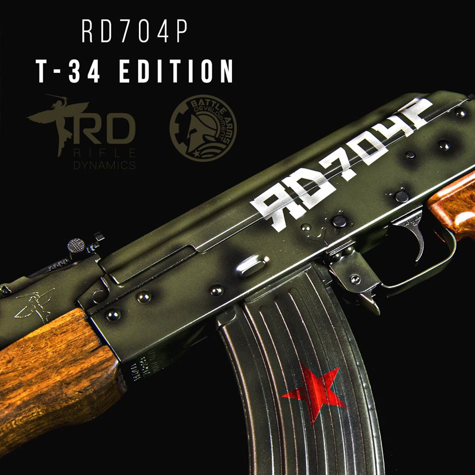 RIFLE DYNAMICS TEAMS UP WITH BATTLE ARMS DEVELOPMENT AND INTRODUCES THE RD704P T-34 EDITION PISTOL