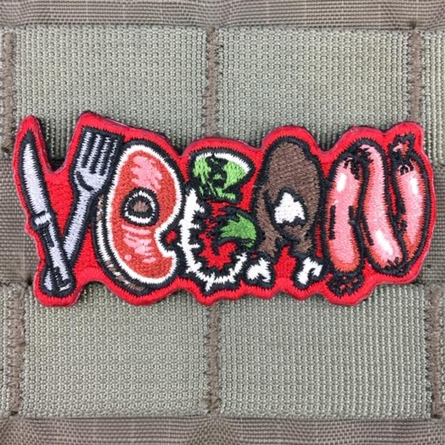 violent little machine shop carnivorous vegan morale patch 1