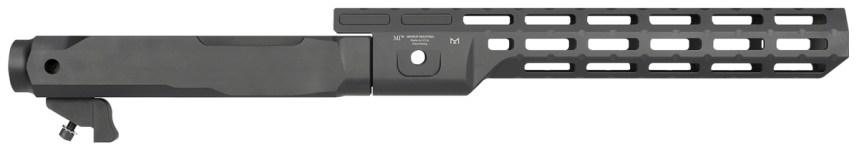 midwest industries ruger 10 22 fixed barrel chassis system billet aluminum 22lr mlok