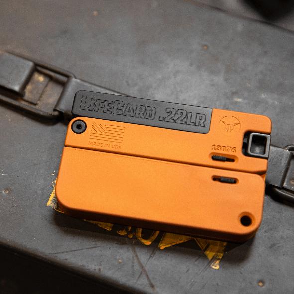 trailblazer firearms tequila sunrise lifecard pistol 22lr hidden gun small pistol 1