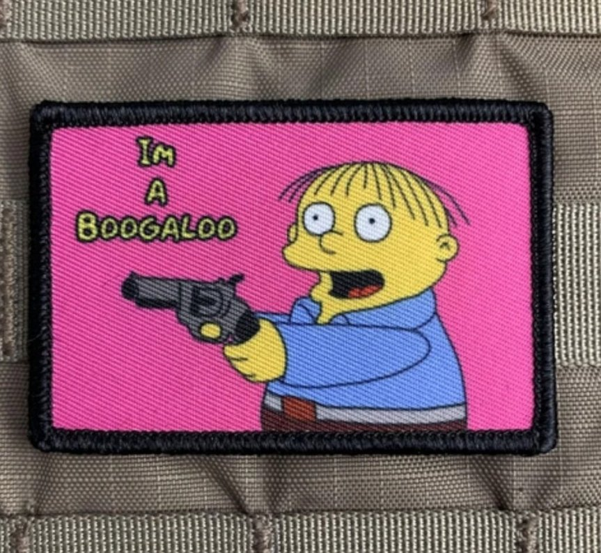 violent little machine shop im a boogaloo ralph wiggum morale patch range bag 1