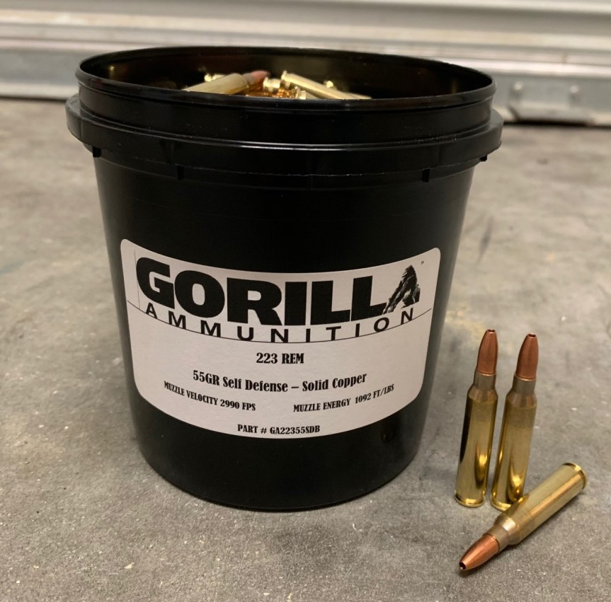 gorilla ammunition bulk ammo 223 556 300 blackout bucket ammo bullets 1