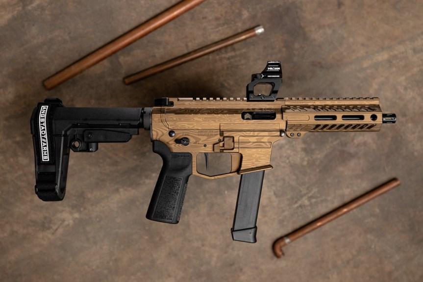 anstadt arms udp-9 ar-9 pistol pcc pistol caliber carbine 9mm 2