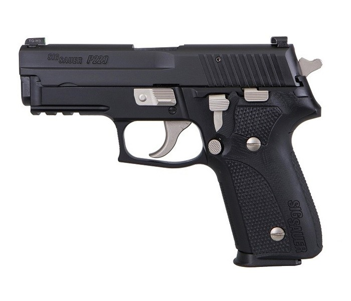 sig sauer custom works p220 p226 p229 custom blackout handgun pistol 9mm