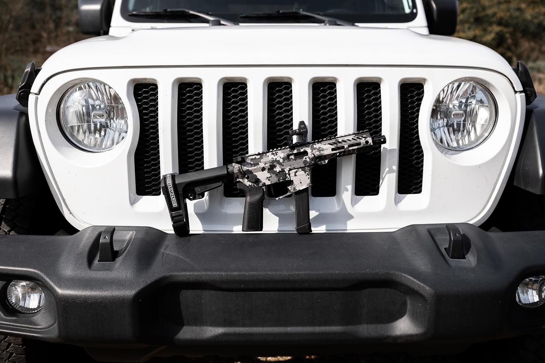 angstadt arms udp-9 pistol graffiti silver cerakote custom pcc pistol caliber carbine 9mm