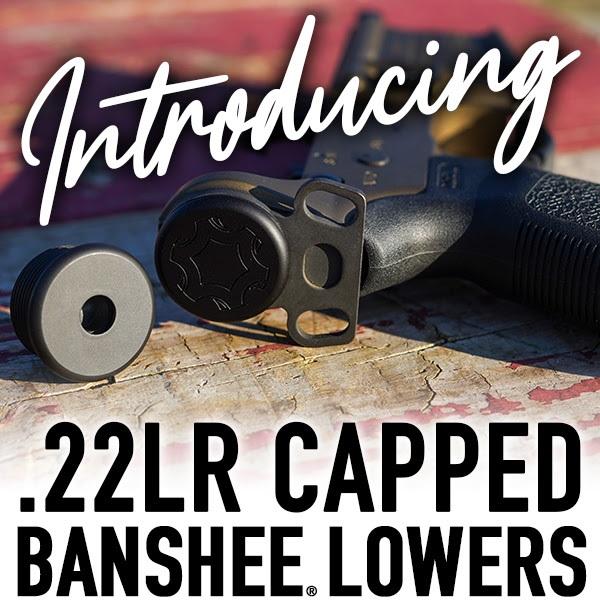 cmmg 22lr capped banshee lower receiver 22lr ar-15 ar22 tubeless pistol