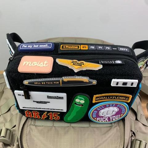 violent little machine shop cobra buckle velcro fanny pack morale patches