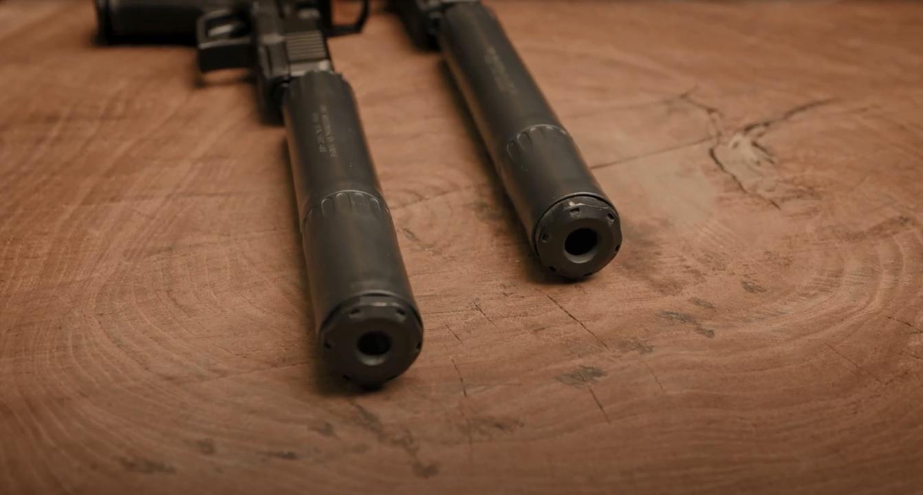 oss suppressors flow through silencers no baffles rad 9 rad 45 pistol can