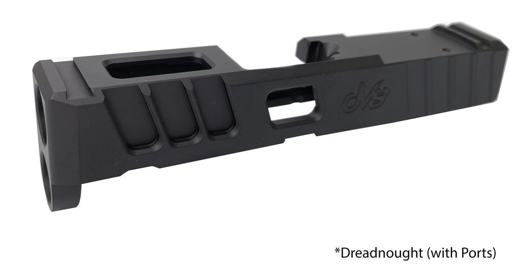 dv8 dynamics custom slide springfield hellcat 9mm micro compact pistol red dot slide cut