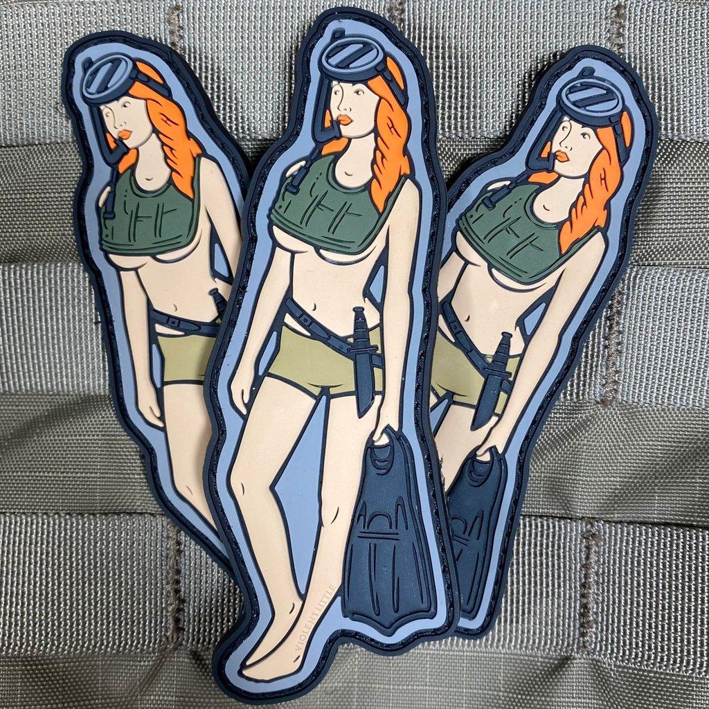 violent little machine shop udt babe morale patch pvc patches range bag