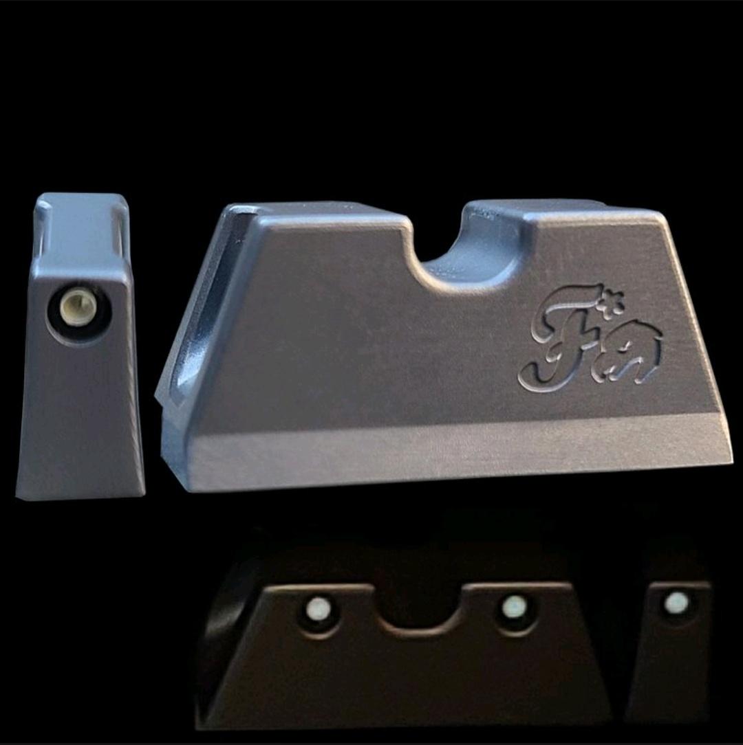 firing squad firearms griffworx titanium night sights glock 9mm 40sw