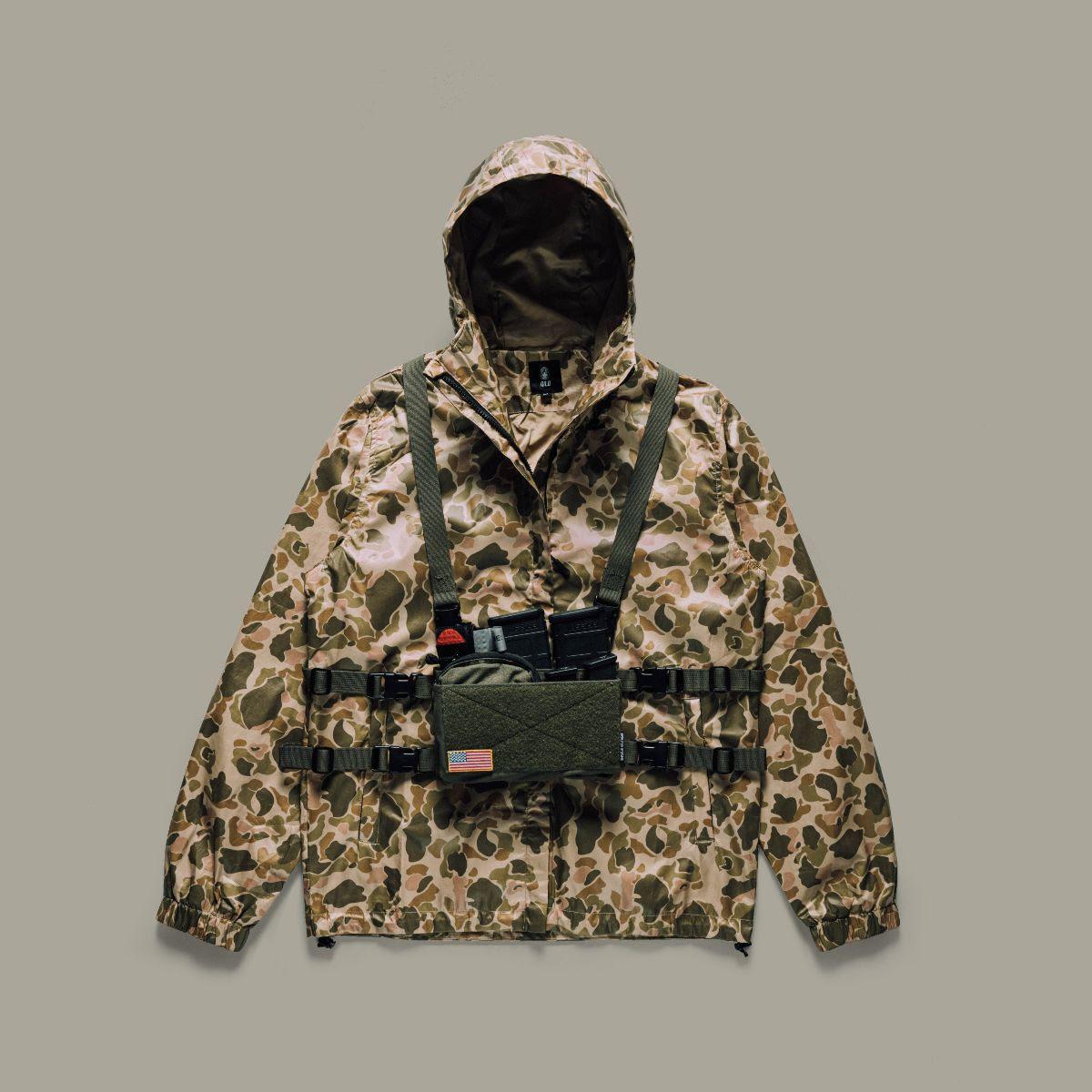 qilo Tactical wrmfzy frogskin cammo print breaker parka