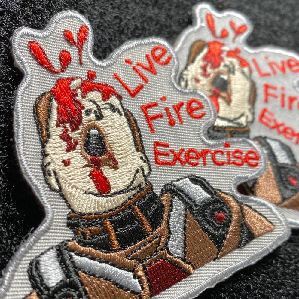 violent little machine shop live fire exercise morale patch violent little machine shop live fire exercise morale patch