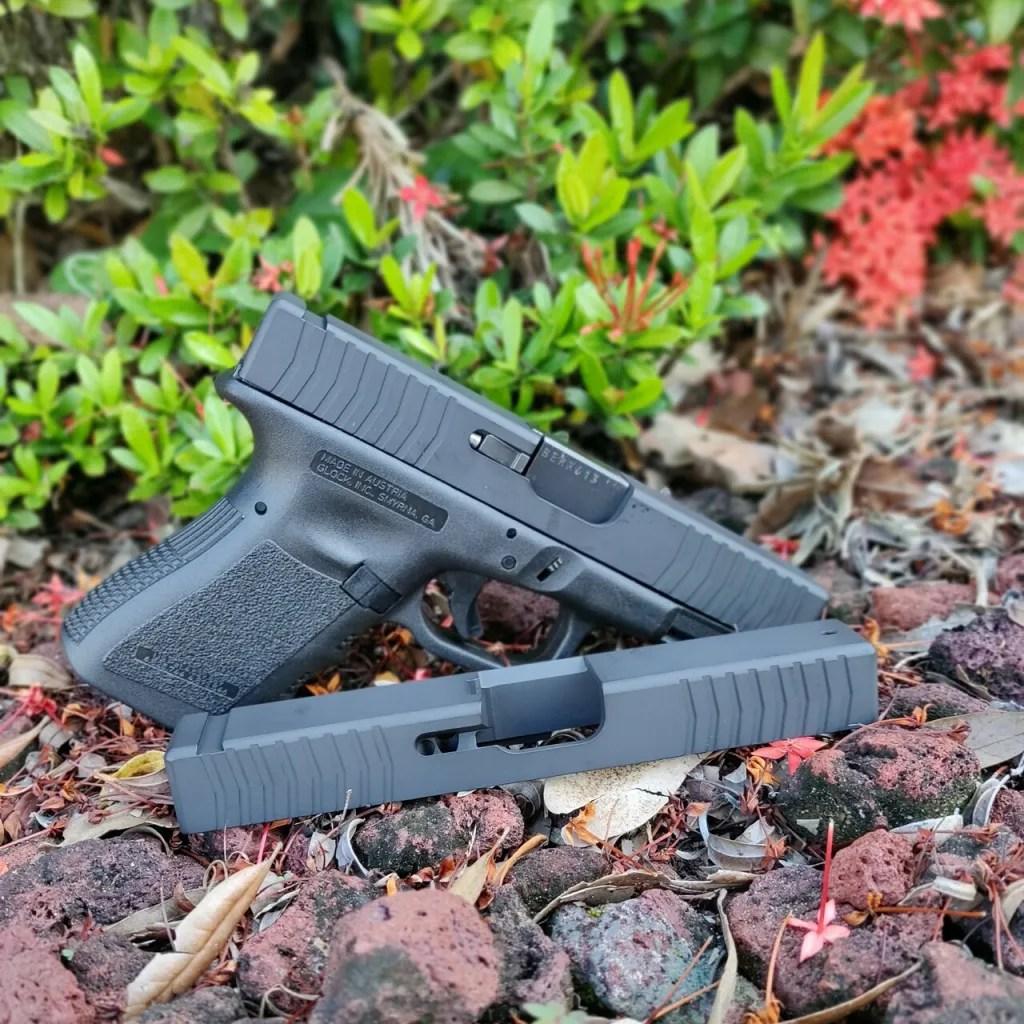 kineti-tech glock slide custom glock slides rmr cut