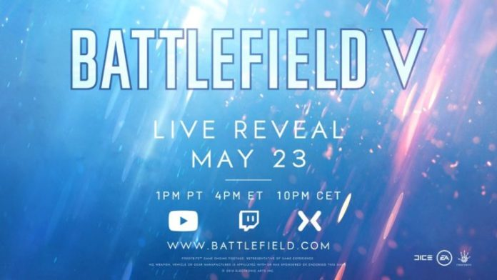 This image shows the time and date of the live event for Battlefield V.