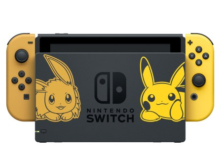 Pokemon Lets Go Pikachu – Lets Go Eevee – Console and Dock (1)