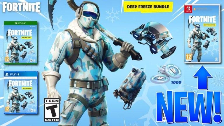 What Is The Fortnite Deep Freeze Bundle Fortnite Deep Freeze Bundle Retail Version Announced Attack On Geek