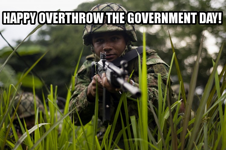 Happy Overthrow the Government Day!   Attack the System