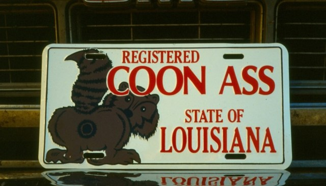 LA Coonass License Plate