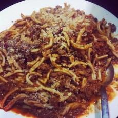 Elk Bolognese, Homemade pasta