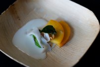 Peaches, Lardo, Buttermilk