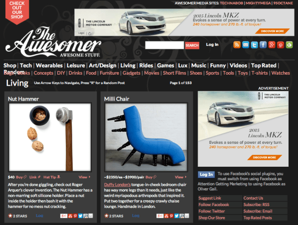 top shopping blogs the awesomer