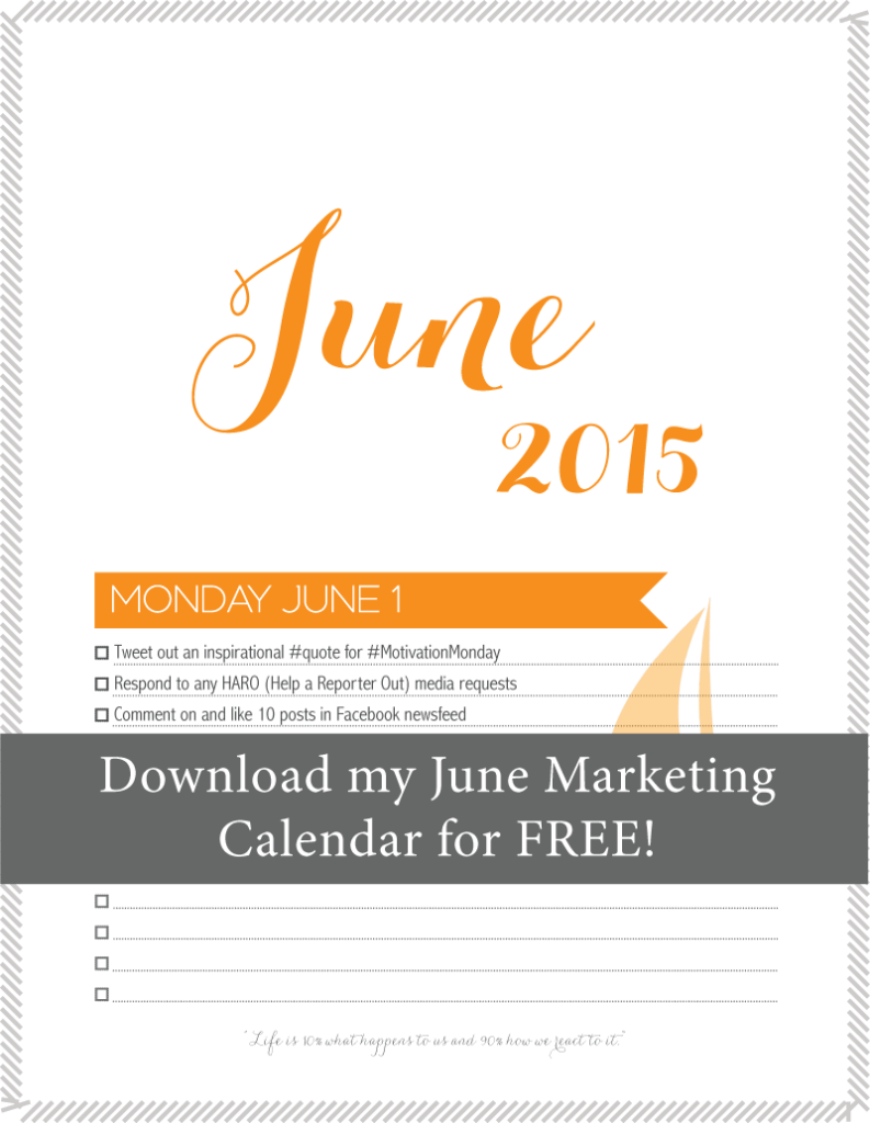 marketing calendar for small business