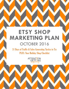 etsy october marketing plan