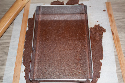 Entremets samouraï chocolat noir framboises