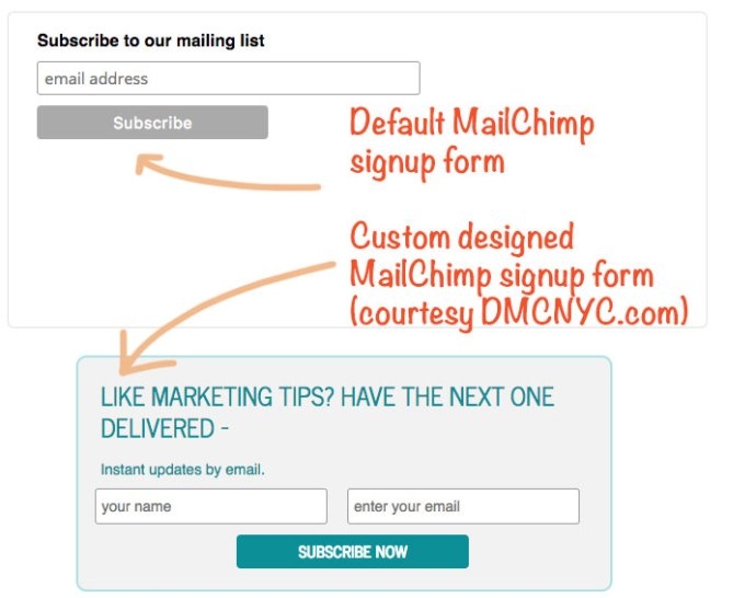 plain and beautiful mailchimp signup form example