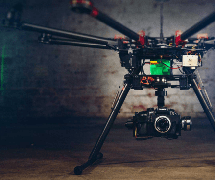The main usage of drones in Denmark is for media production. 45% of the Danish companies that use drones, use them for this purpose. Their function in this respect is to take photos and film video.