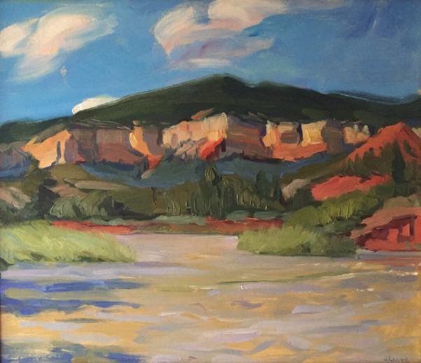 The Rio Chama, a painting by Judith Reeve