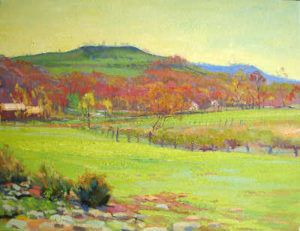 A landscape painting by Judith Reeve