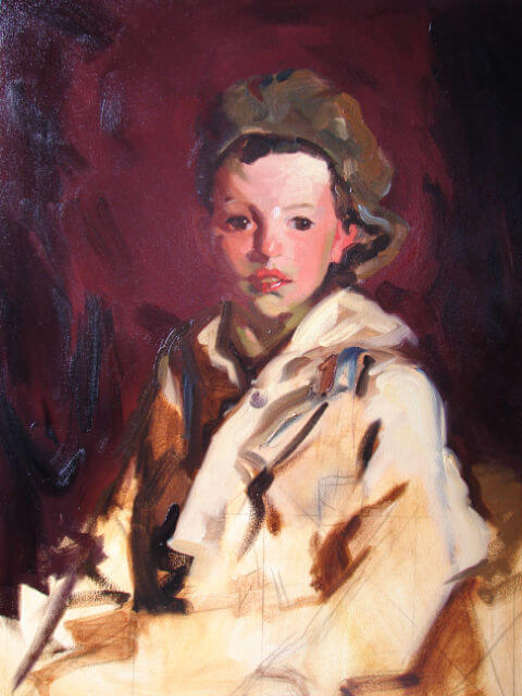 "Copy of Robert Henri's ""Johnny Manning"" by Judith Reeve"