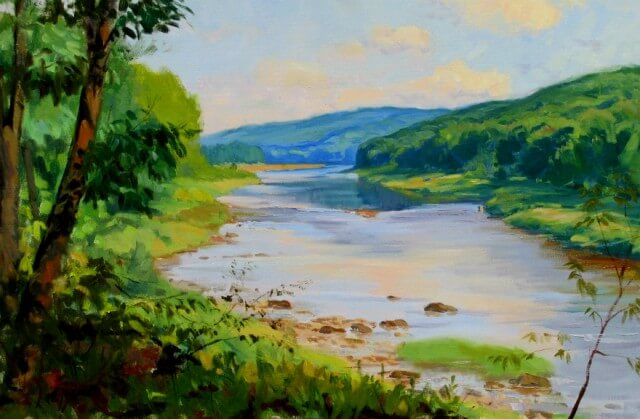 September View of the Delaware River, a painting by Judith Reeve