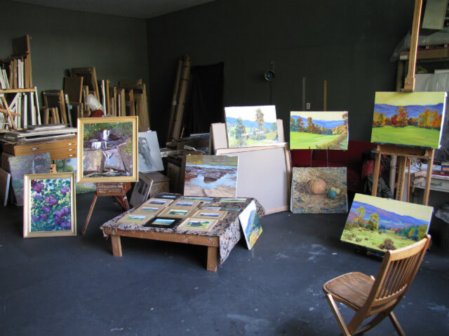 The painting studio of Judith Reeve