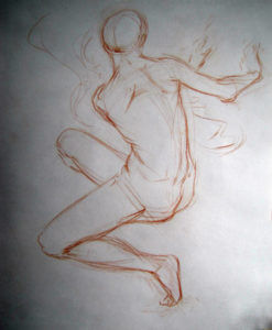 Study for Sirocco, a drawing by Judith Reeve