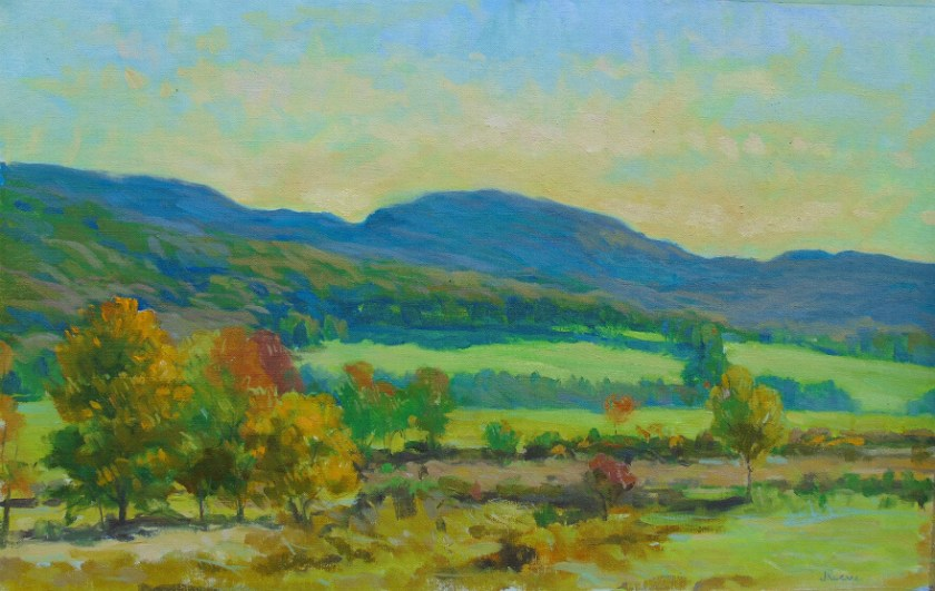 Coming Autumn, a landscape painting by Judith Reeve