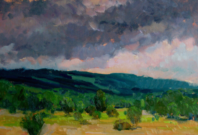 Rain Clouds, a landscape painting by Judith Reeve