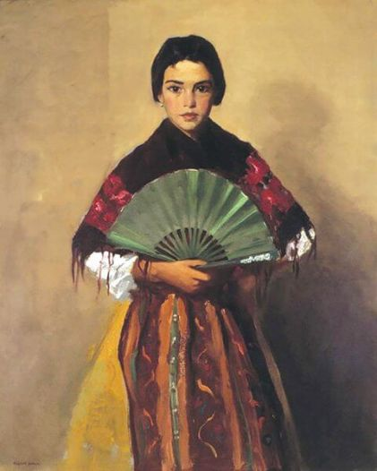 "Robert Henri, ""The Green Fan"", 1912"
