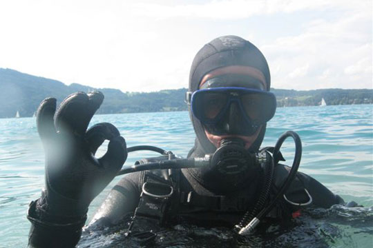 Diving in Attersee/Austria