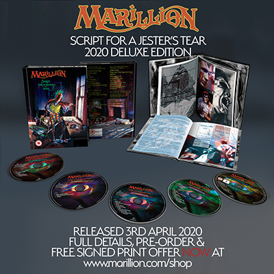 Marillion - Script For A Jester's Tear: deluxe reissue news