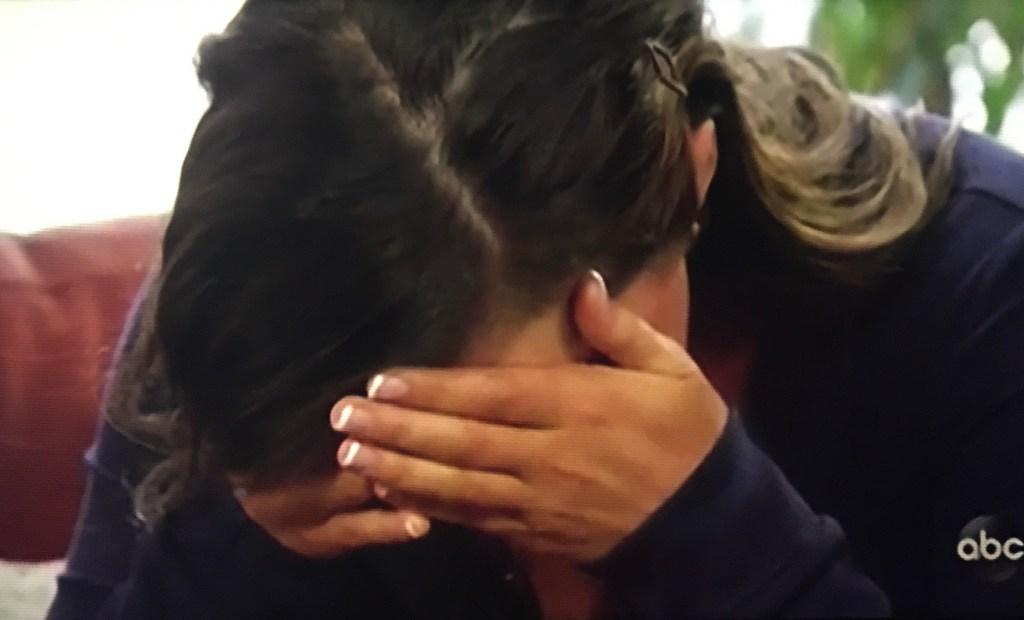 katie thurston crying