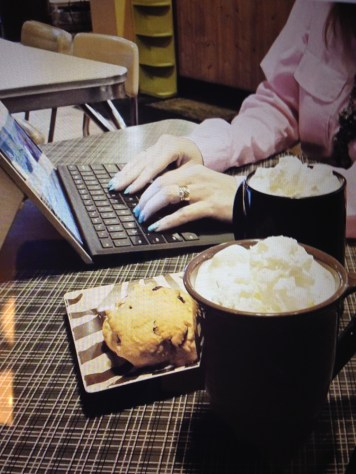 A coffee and work date with Jay Pea on Monday afternoon...